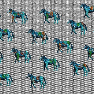 Little Horses Colorful Pattern by thunderteam79