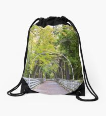 The Bridge of Fall Drawstring Bag