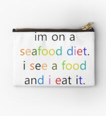 Seafood Die at it Studio Pouch
