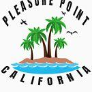 Pleasure Point California - Beach (Design Day 256) by TNTs