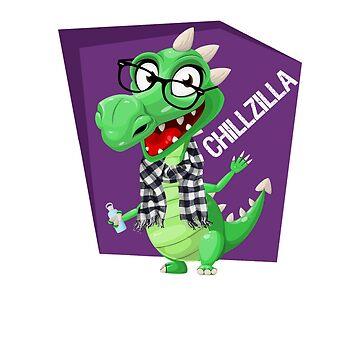 Chillzilla -- The Chillest Dragon Lizard Monster by CeeGunn