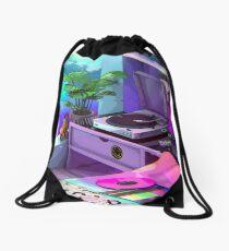 vaporwave aesthetic Drawstring Bag