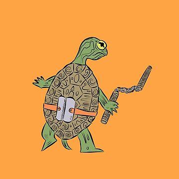Hatchling Ordinary Ninja Turtles - Mikey by TheMVB