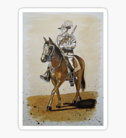Australian Light Horseman Sticker