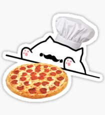 Bongo Cat Pizza Chef Sticker