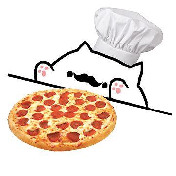 Bongo Cat Pizza Chef by adjua