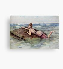 Au But by L Rossi risque capsized girl Canvas Print