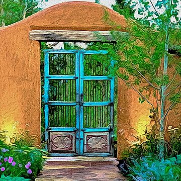 Southwest Adobe Wall and gate by Skyviper