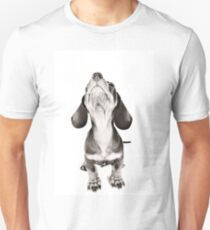 Funny dachshund with a big nose Unisex T-Shirt