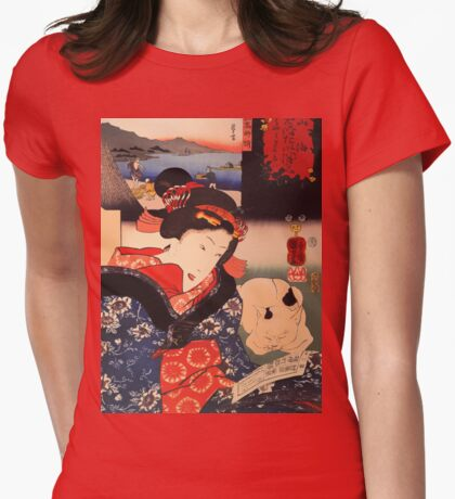 Woman Reading with Cat T-Shirt