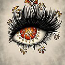 Weird Eye Of Fractured Lava | Digital Art by Boriana Giormova