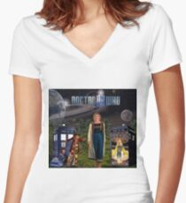 13th Doctor Women's Fitted V-Neck T-Shirt