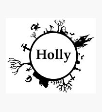 Halloween name Holly Photographic Print
