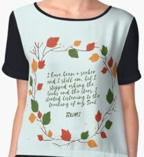Rumi Quote I stated Listening To The Teaching Of My Own Soul Chiffon Top