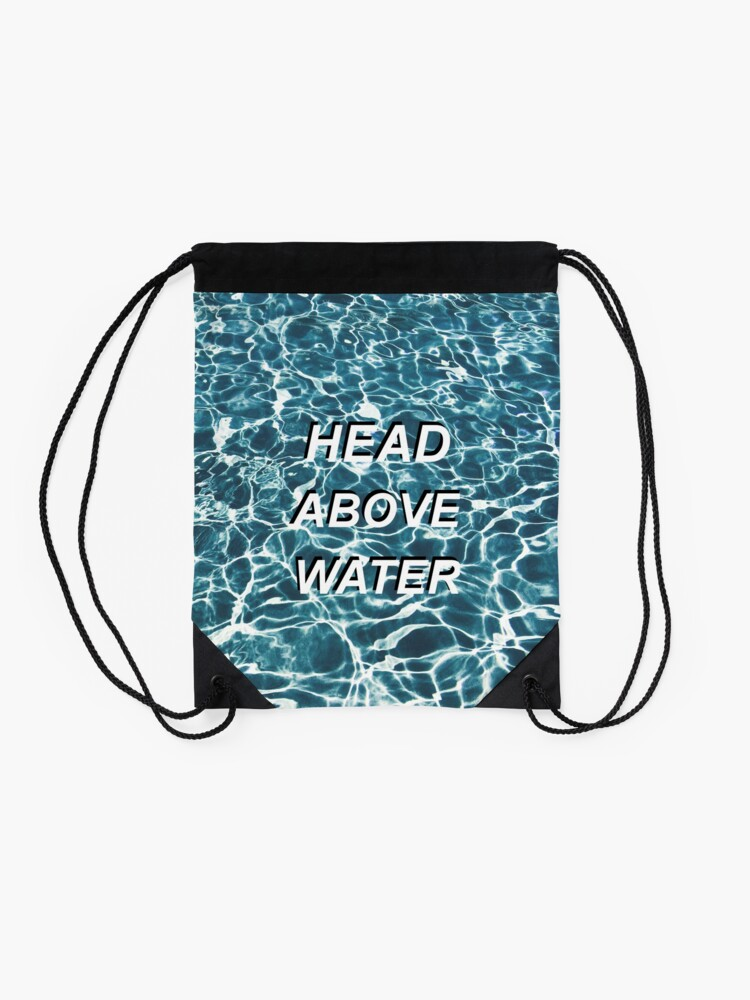 Alternate view of Head Above Water Drawstring Bag