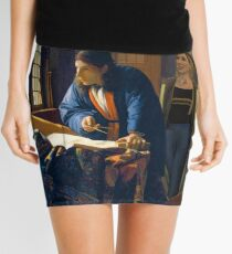 The Doctor and Vermeer's Geographer Mini Skirt