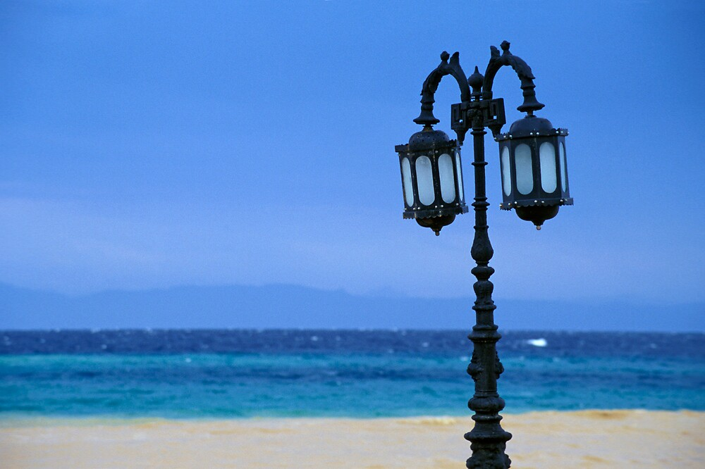 Lamp-post at Beach Colonnade by Red Sea (Egypt)  by Petr Svarc