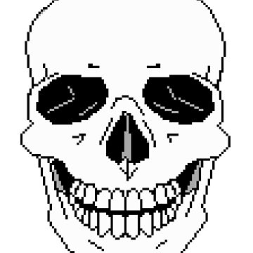 Pixel Skull by Vampireslug