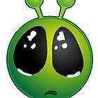 Space Monster Green Weeping Halloween Night by osamaandosama