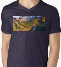 The Doctor and Dinosaur Valley Men's V-Neck T-Shirt