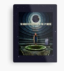 Doctor Who and the Abandoned Power Plant Metal Print