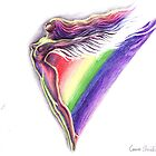 rainbow angel or the goddess Iris  by Corina Chirila