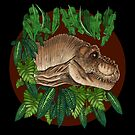 Rexy 'T-Rex' (On Black) by LukeMartinsArt