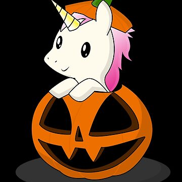Sweet unicorn in the pumpkin by stoneyy