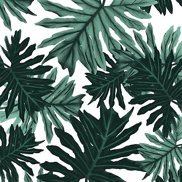 Philo Hope - Tropical Jungle Leaves Pattern #6 #tropical #decor #art  by anitabellajantz