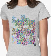 """""""Human Genome Double Helix""""© Womens Fitted T-Shirt"""