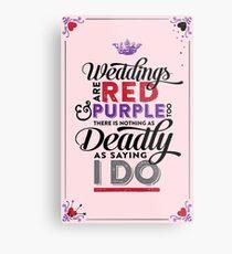 Deadly Weddings Metal Print