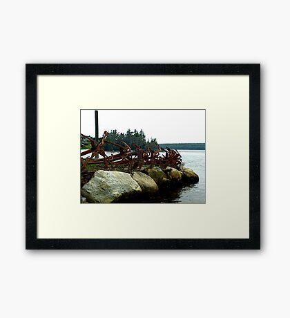 Anchors Ashore Framed Print