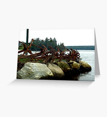 Anchors Ashore Greeting Card