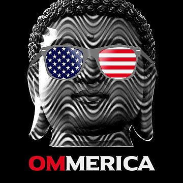 American Buddha Meditation OM Mantra Patriotic Buddhism Yoga Chant gifts by vince58