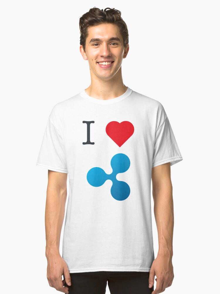 I Love <3 Ripple  Classic T-Shirt Front