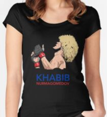 khabib nurmagomedov the eagle Women's Fitted Scoop T-Shirt