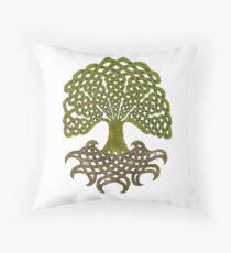 Celtic Yggdrasil - Tree of Life Throw Pillow