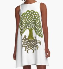Celtic Yggdrasil - Tree of Life A-Line Dress