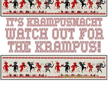 It's Krampusnacht - Watch Out For The Krampus Christmas Devil Ugly Christmas Sweater Design by gallerytees