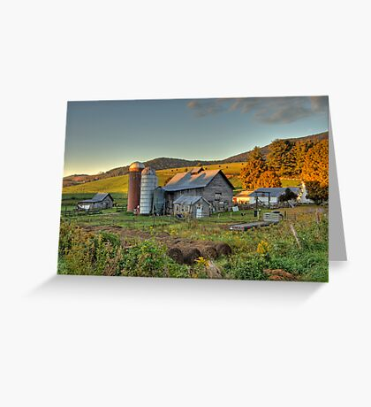 Portrait of a Mountain Farm  Greeting Card