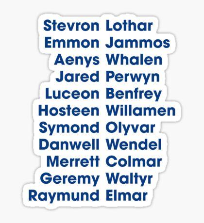 The 22 Trueborn sons of Walder Frey Sticker
