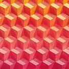 Geometrische Würfel Muster von WhileIWonder