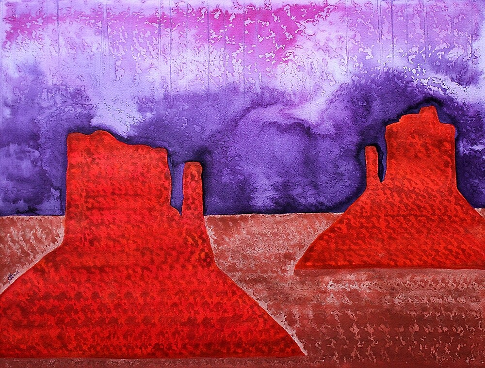 Monument Valley original painting by Sol Luckman