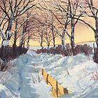 Hockney's Tunnel of Trees in Winter by Glenn Marshall