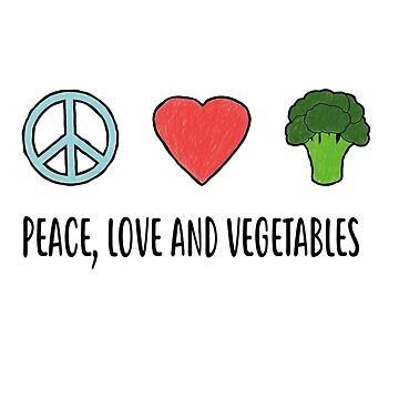 Peace Love Veggies Shirt | Cool Of Veggies Gift by danny911