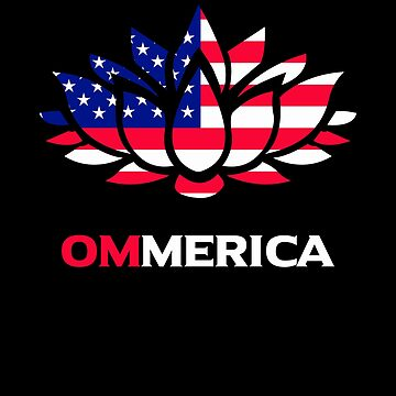 American Buddha Meditation OM Mantra Patriotic Buddhism Yoga Lotus Flower gifts by vince58