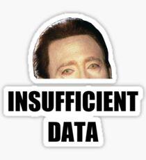 INSUFFICIENT DATA Sticker