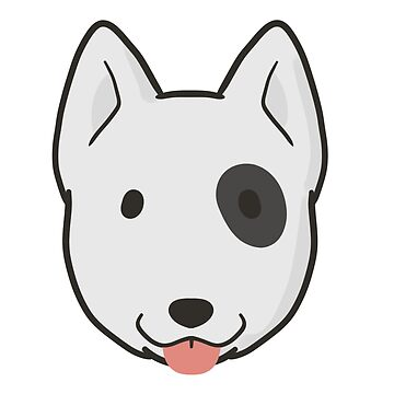 Bull Terrier Face by ncdoggGraphics