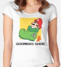 Super Mario - Goomba's Shoe Women's Fitted Scoop T-Shirt
