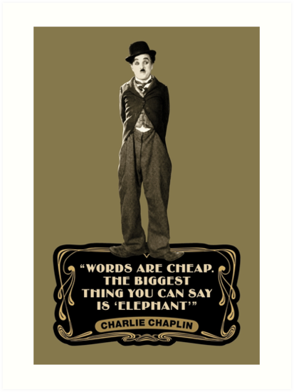 Never find a Rainbow Poster Words related to Charlie Chaplin Quote artwork